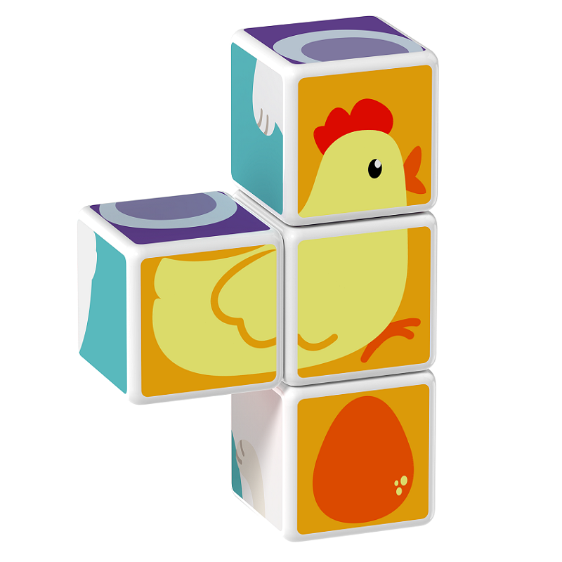Magicube Geomag - ANIMAL FRIENDS - Model chicken 1