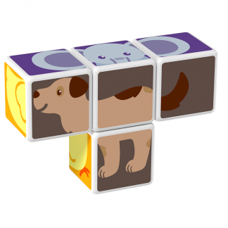 Magicube Geomag - ANIMAL FRIENDS - Model dog