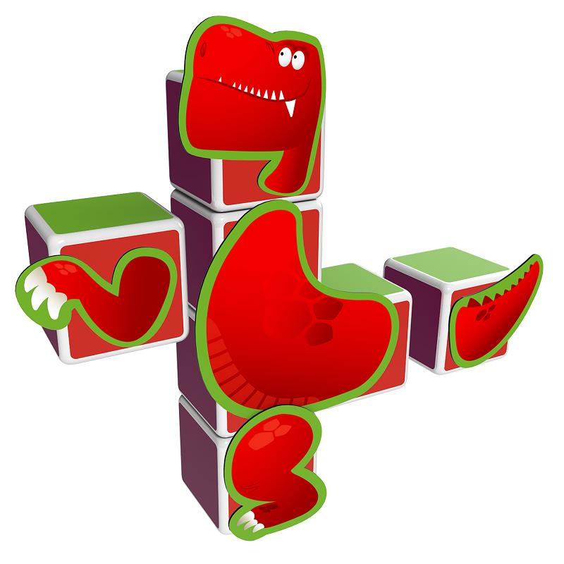 Magicube Geomag - DINOSAURS - Model Trex
