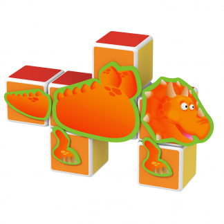 Magicube Geomag - DINOSAURS - Model Triceratopos
