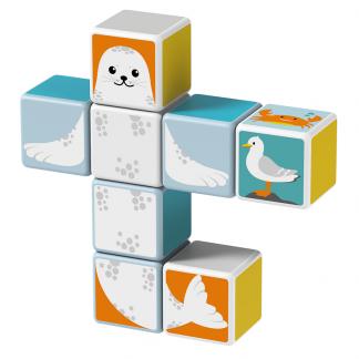 Magicube Geomag - POLAR ANIMALS - Model seal
