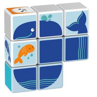 Magicube Geomag - POLAR ANIMALS - Model whale 2