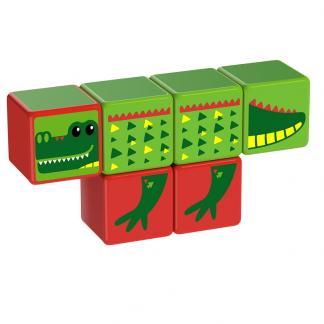 Magicube Geomag - RIVER ANIMALS - Model crocodile 1