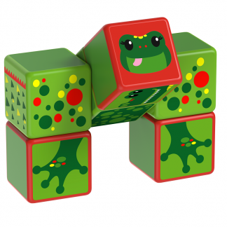 Magicube Geomag - RIVER ANIMALS - Model frog