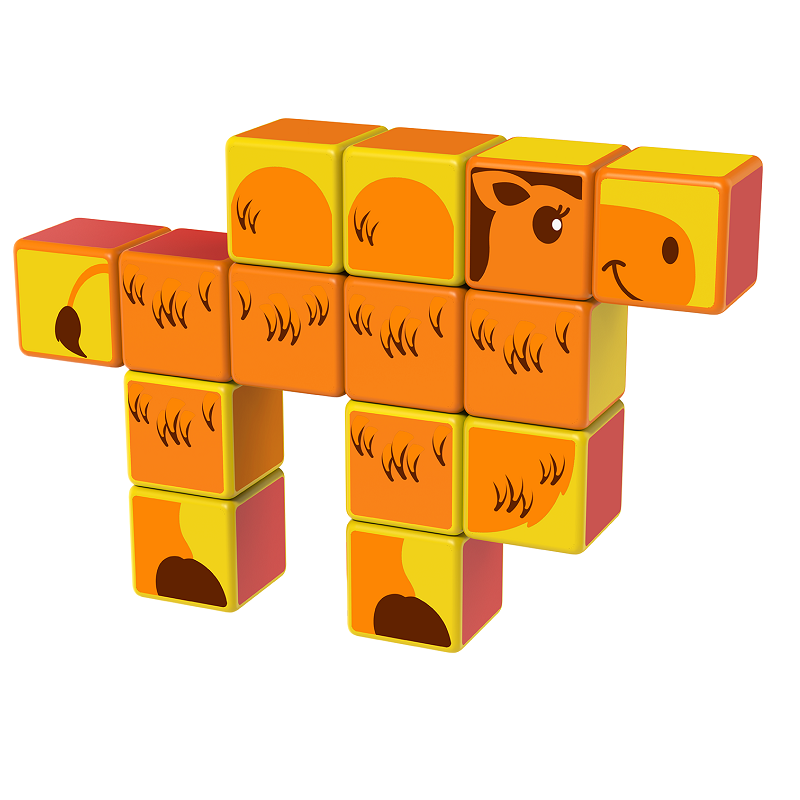 Magicube Geomag - SAFARI ANIMALS - Model camel