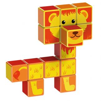 Magicube Geomag - SAFARI ANIMALS - Model lion 1