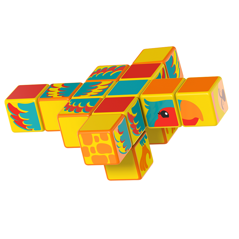 Magicube Geomag - SAFARI ANIMALS - Model parrot