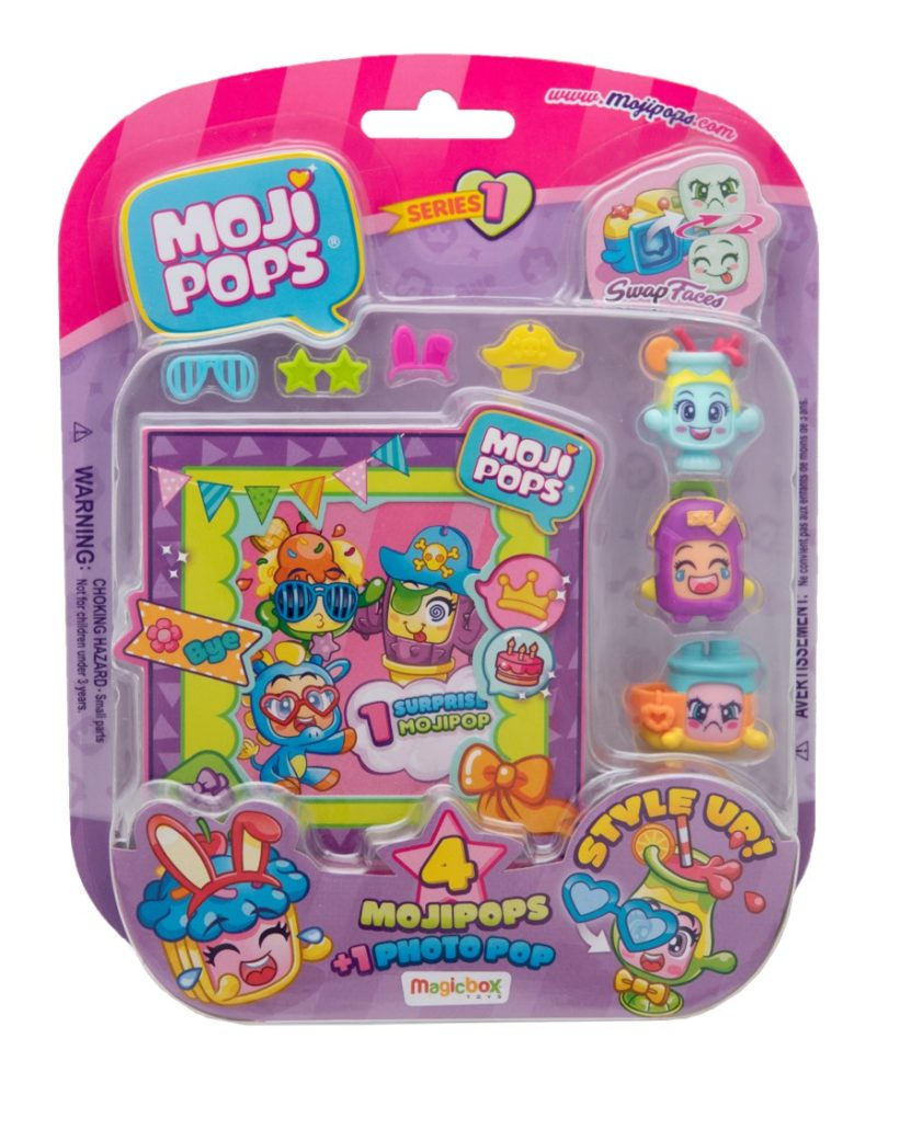 BLISTER DE 4 MOJI POPS E PHOTO POP